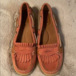 PINK SPERRY TOP SIDERS